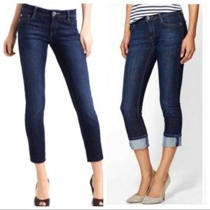 DL1961 Toni Cropped High rise jeans dark wash